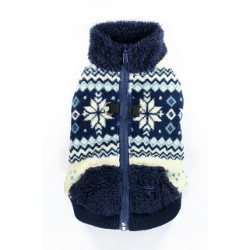 SOFT SNOWFLAKE FLEECE VEST - NAVY (Hip Doggie)