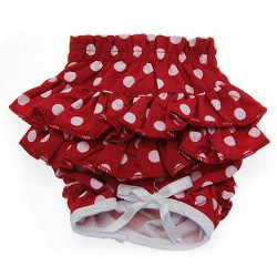 PANTIES - RED WITH PINK DOTS (Doggie Design)