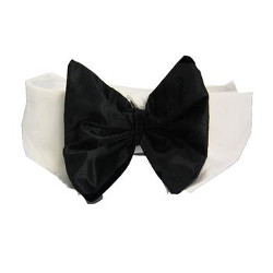 Satin Bow Tie - Black