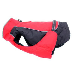 ALL WEATHER DOG COAT - RED/BLACK (Doggie Design)