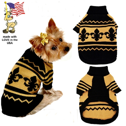 FLEUR DE LYS SWEATER (Mirage Pet Products)