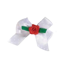 ROSE BOW WHITE & RED ROSE ()