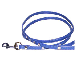 Rhinestone Leash - Blue
