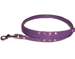 Rhinestone Leash - Purple