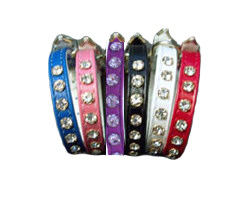 Rhinestone Collar - White