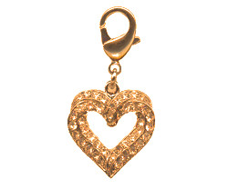 Charm Two Hearts - Gold
