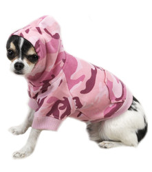 HOODIE CAMO - PINK (Casual Canine)