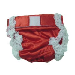 PANTIES SATIN - RED (Doggie Design)